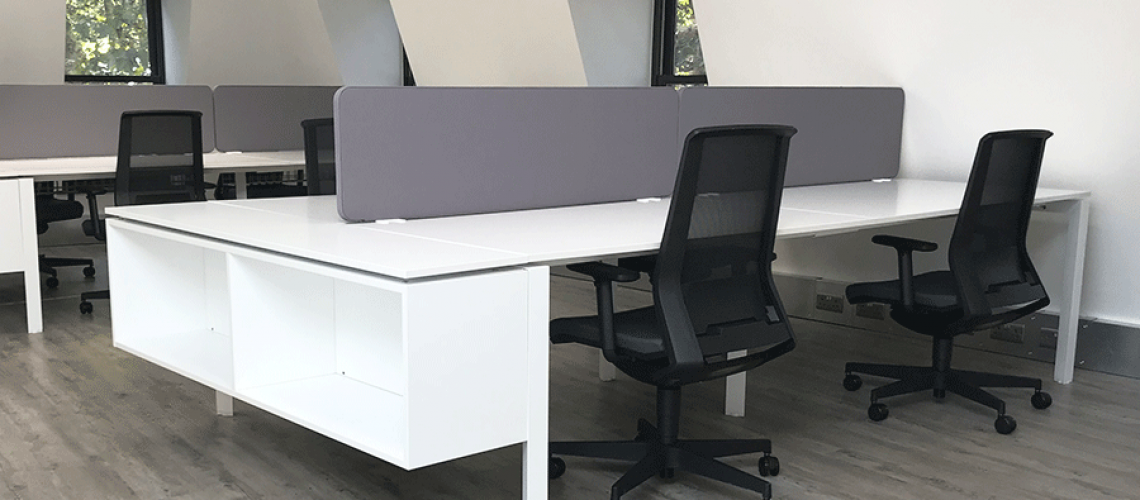 Black Look task chairs in situ available on fast track from Furniture hive